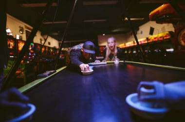 man and woman playing game