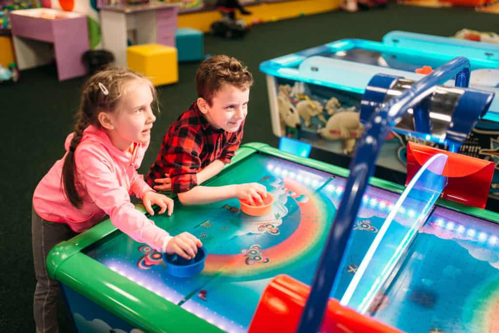 4-Players Round Air Hockey Tables - More Fun For The Family!