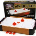Matty's Toy Stop Deluxe Wooden Mini Table Top Air Hockey table