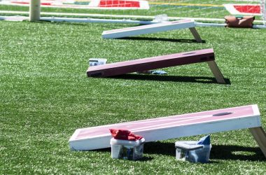 Three corn hole games