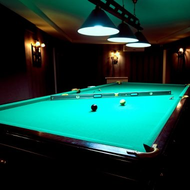Lighted billiard table