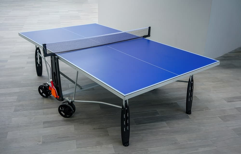 Blue table tennis table