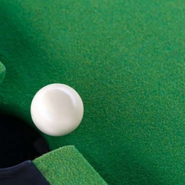 Snooker white ball