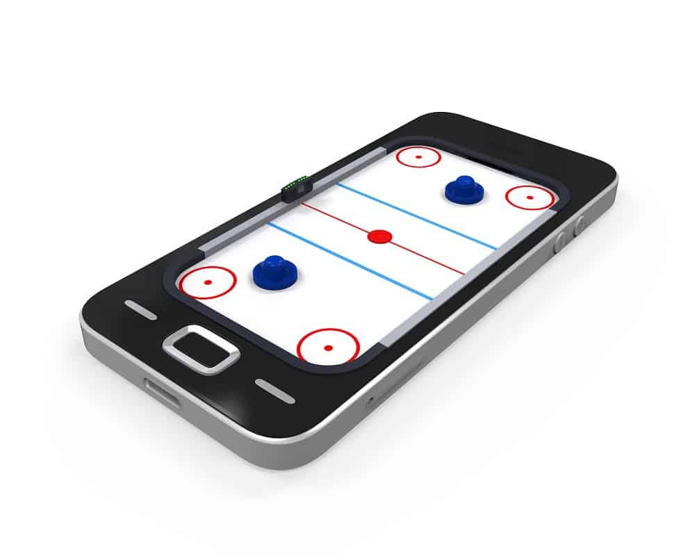 Air Hockey Table in a smartphone