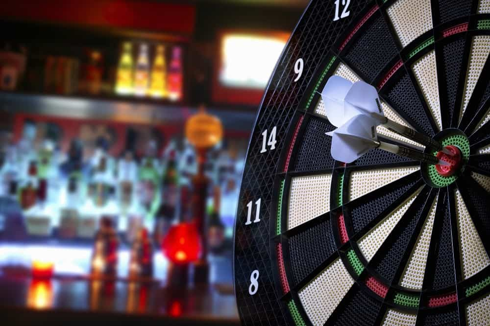 darts in a bar