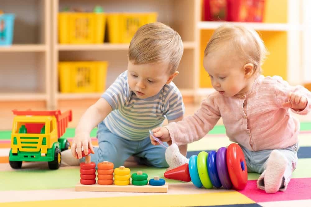 Preschool boy and girl