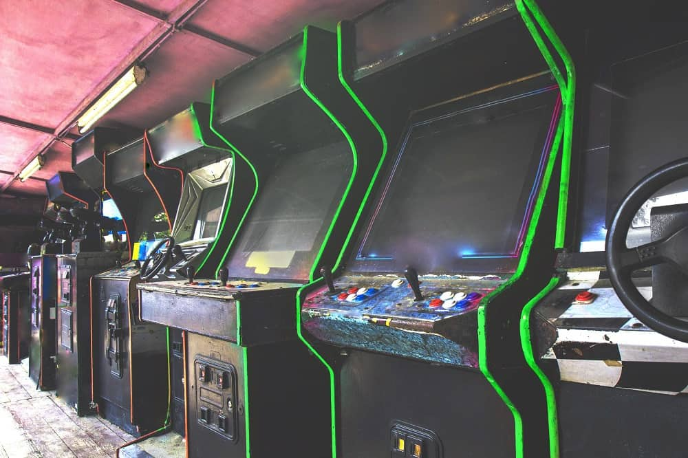 Old used arcade games