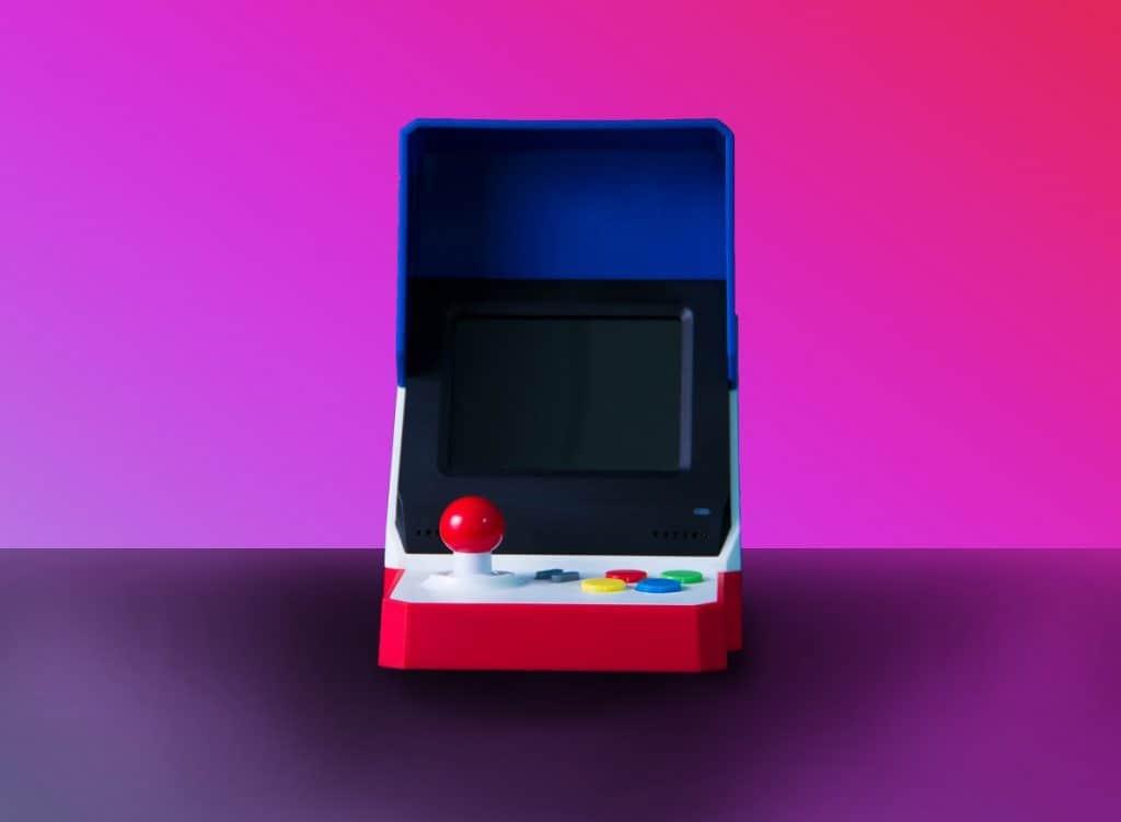 mini game arcade pink